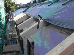 Verlängerung des Dachüberstandes