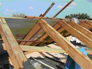 freigelegtes Dach